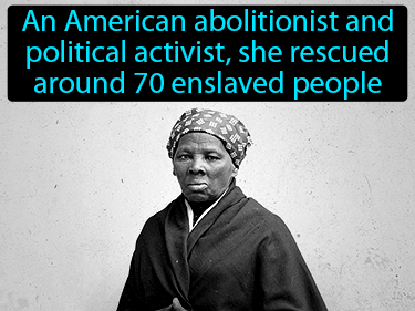 Harriet Tubman Definition Flashcard