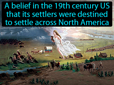 Manifest Destiny Definition Flashcard