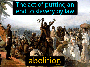 Abolition Definition Flashcard