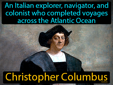 Christopher Columbus Definition Flashcard