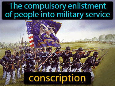 Conscription Definition Flashcard