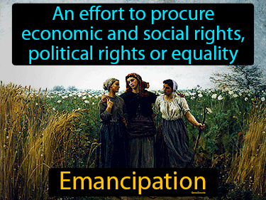 Emancipation Definition Flashcard