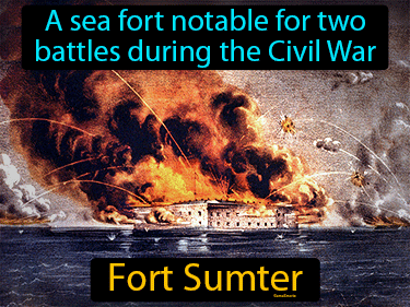 Fort Sumter Definition Flashcard