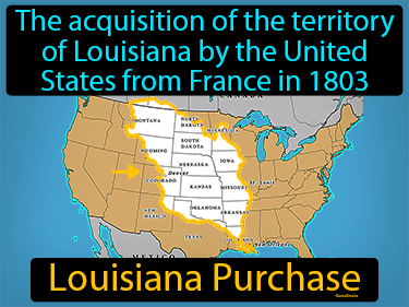Louisiana Purchase Definition Flashcard