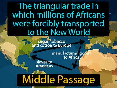 Middle Passage Definition Flashcard