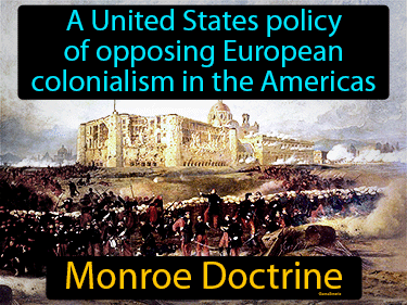 Monroe Doctrine Definition Flashcard