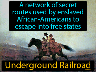Underground Railroad Definition Flashcard