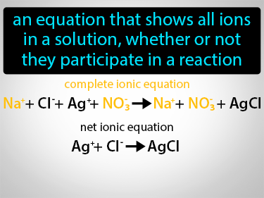 Complete Ionic Equation Definition Flashcard