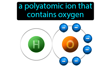 Oxyanion Definition Flashcard