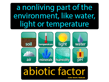 Abiotic Factor Science Definition