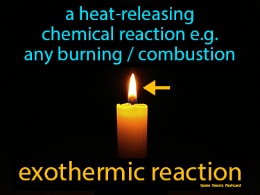 Exothermic Reaction Definition Flashcard