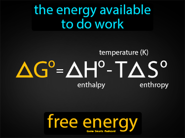 Free Energy Definition Flashcard