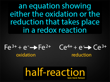 Half Reaction Definition Flashcard