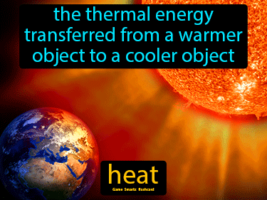 Heat Definition Flashcard
