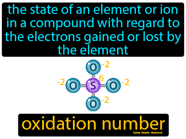 Oxidation Number Definition Flashcard