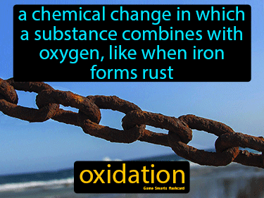 Oxidation Definition Flashcard
