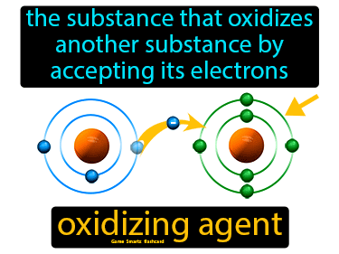 Oxidizing Agent Definition Flashcard