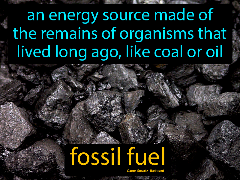 Fossil Fuel Definition: An energy source made of the remains of organisms that lived long ago, like coal or oil. Science.