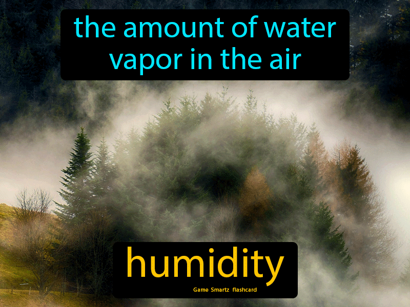 Humidity, the amount of water vapor in the air.