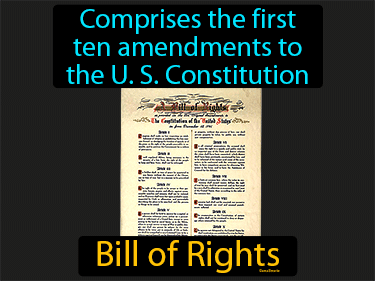Bill Of Rights Definition Flashcard