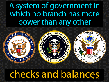 Checks And Balances Definition Flashcard