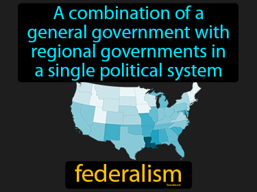 Federalism Definition Flashcard