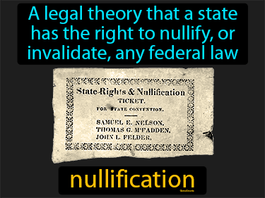 Nullification Definition Flashcard