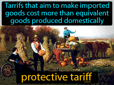 Protective Tariff Definition Flashcard