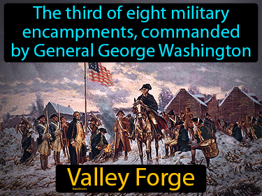 Valley Forge Definition Flashcard