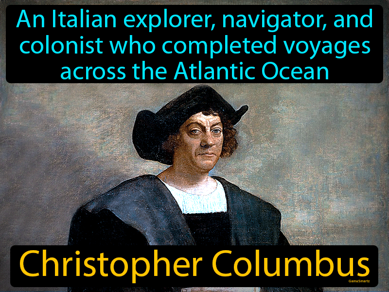 Christopher Columbus, an Italian explorer, navigator and colonist who completed four voyages across the Atlantic.