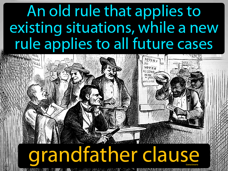 Grandfather Clause with Definition