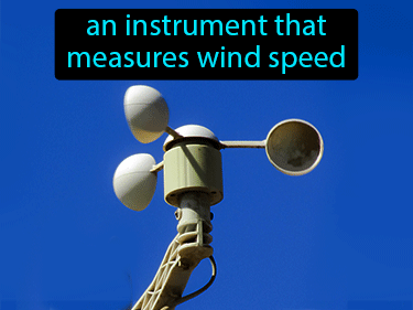 Anemometer Definition Flashcard