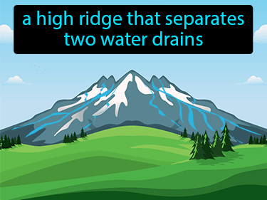 Drainage Divide Definition Flashcard