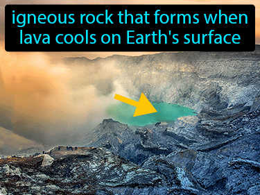 Extrusive Rock Definition Flashcard
