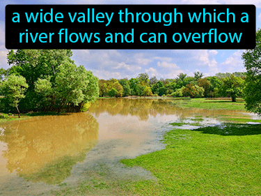 Flood Plain Definition Flashcard