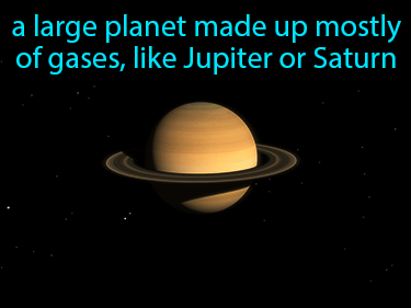 Gas Giant Definition Flashcard