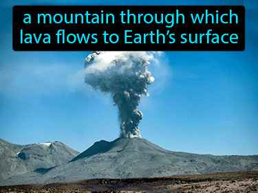 Volcano Definition Flashcard
