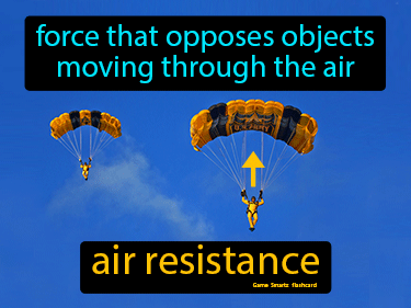 Air Resistance Definition Flashcard