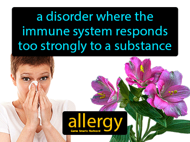 Allergy Definition Flashcard