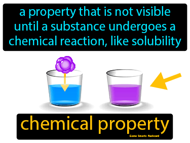 Chemical Property Definition Flashcard