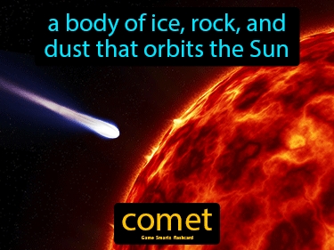 Comet Definition Flashcard