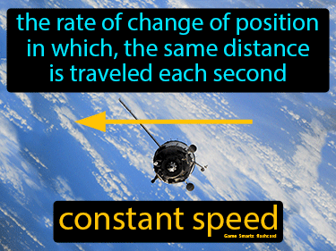 Constant Speed Definition Flashcard