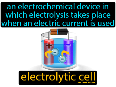 Electrolytic Cell Definition Flashcard