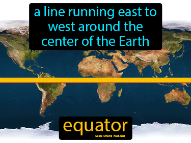 Equator Definition Flashcard