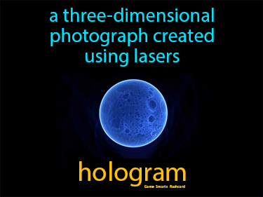 Hologram Definition Flashcard
