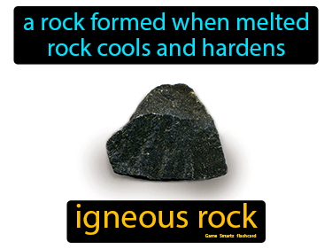 Igneous Rock Definition Flashcard