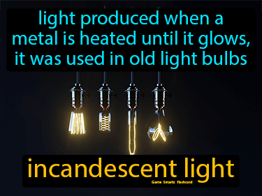 Incandescent Light Definition Flashcard