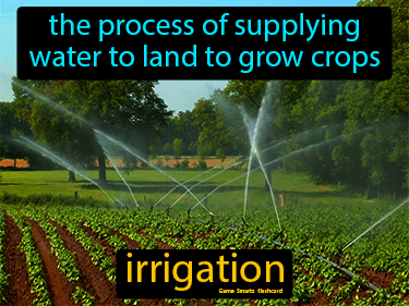 Irrigation Definition Flashcard