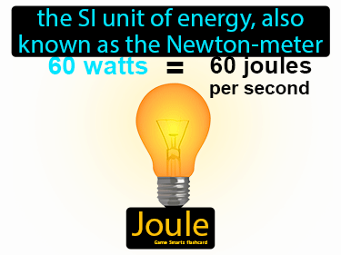 Joule Definition Flashcard