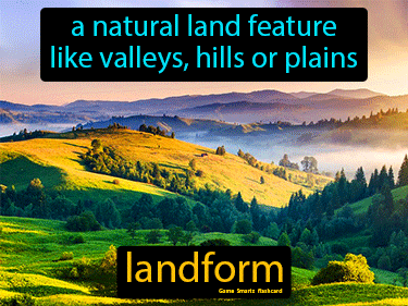 Landform Definition Flashcard